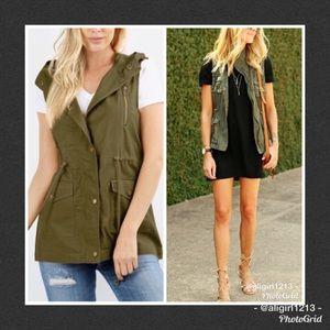 Jackets & Blazers - LAST 2 - Olive Utility Vest